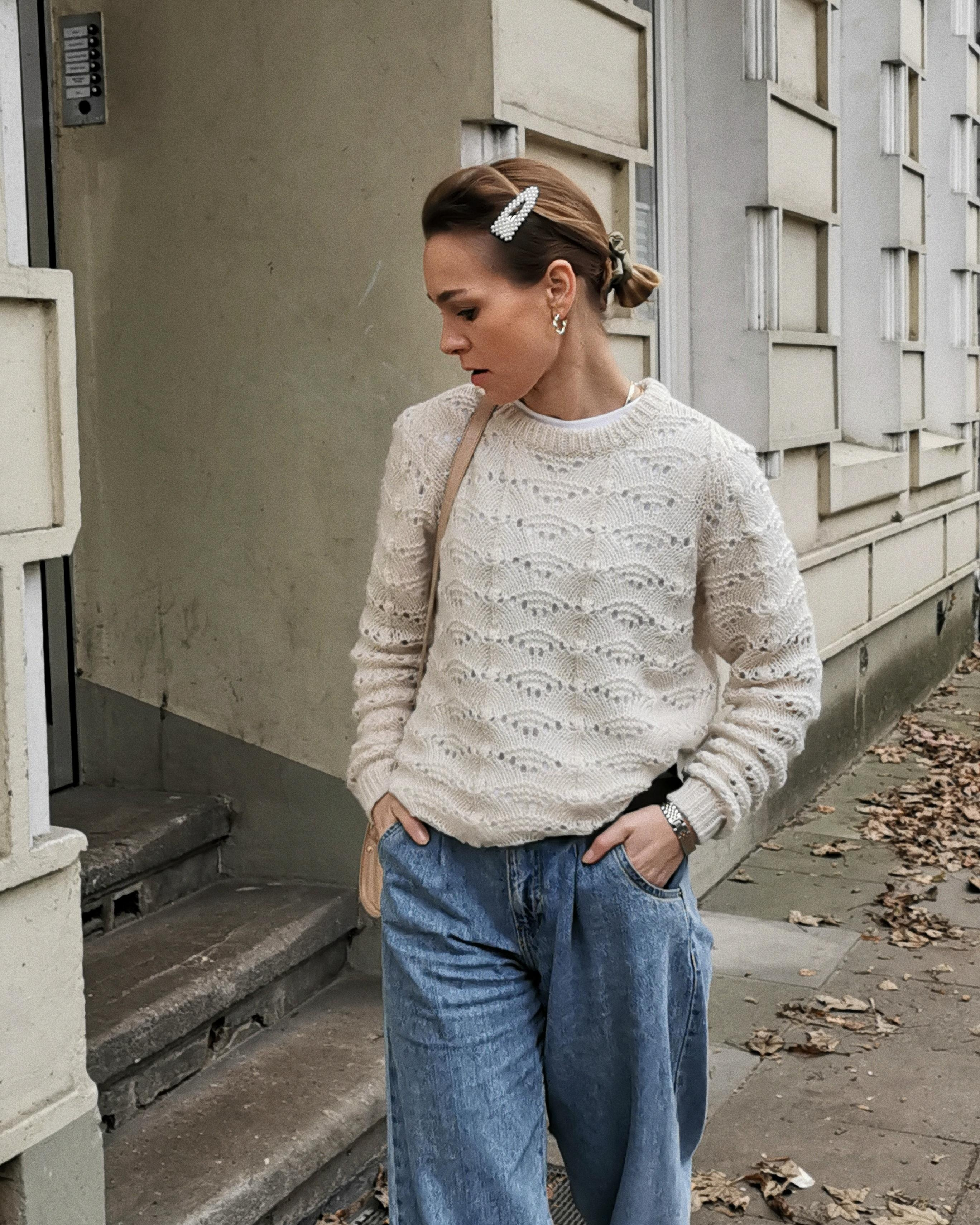 🐑 #fashion #streetstyle #knit #haarspange #hairclip