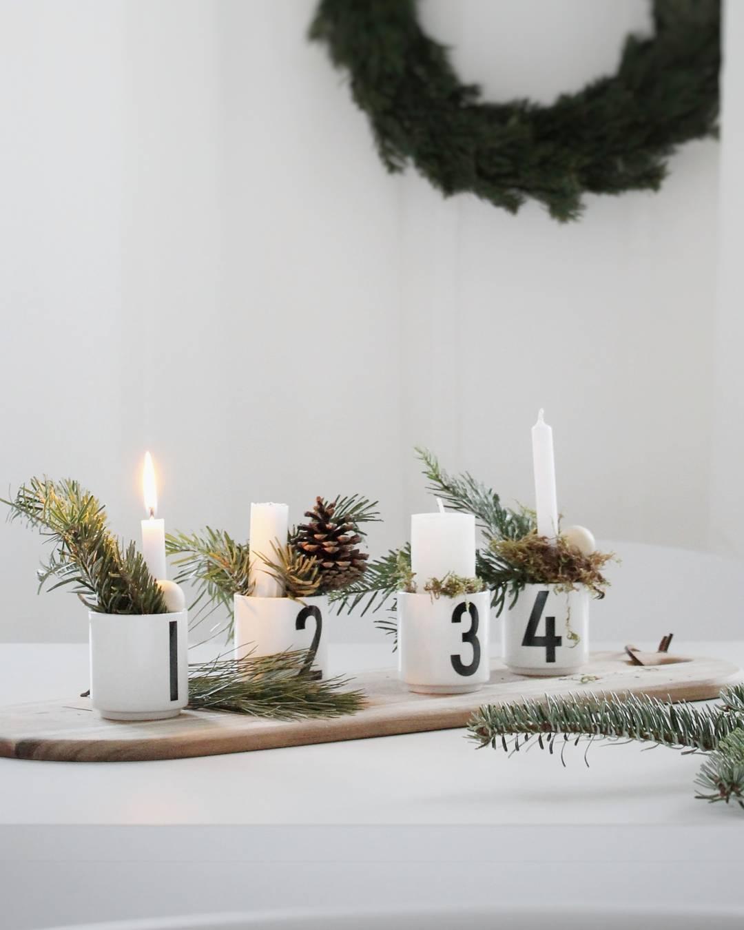 1 2 3 4 designletters adventskranz adventkranz - Weihnachtsdeko skandinavisch ...