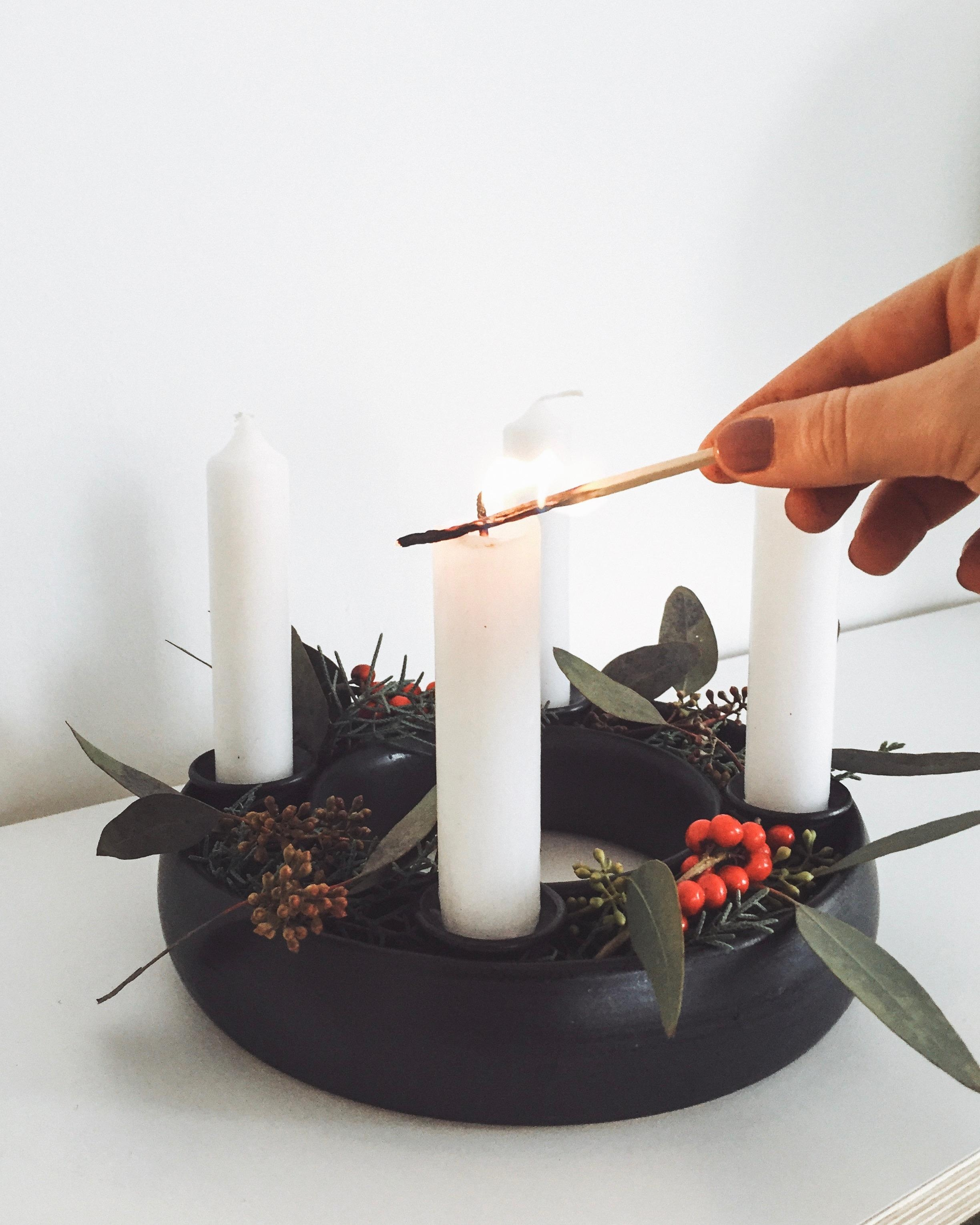 1. Advent 🕯 #christmas #home #decoration #interior #inspiration #adventskranz