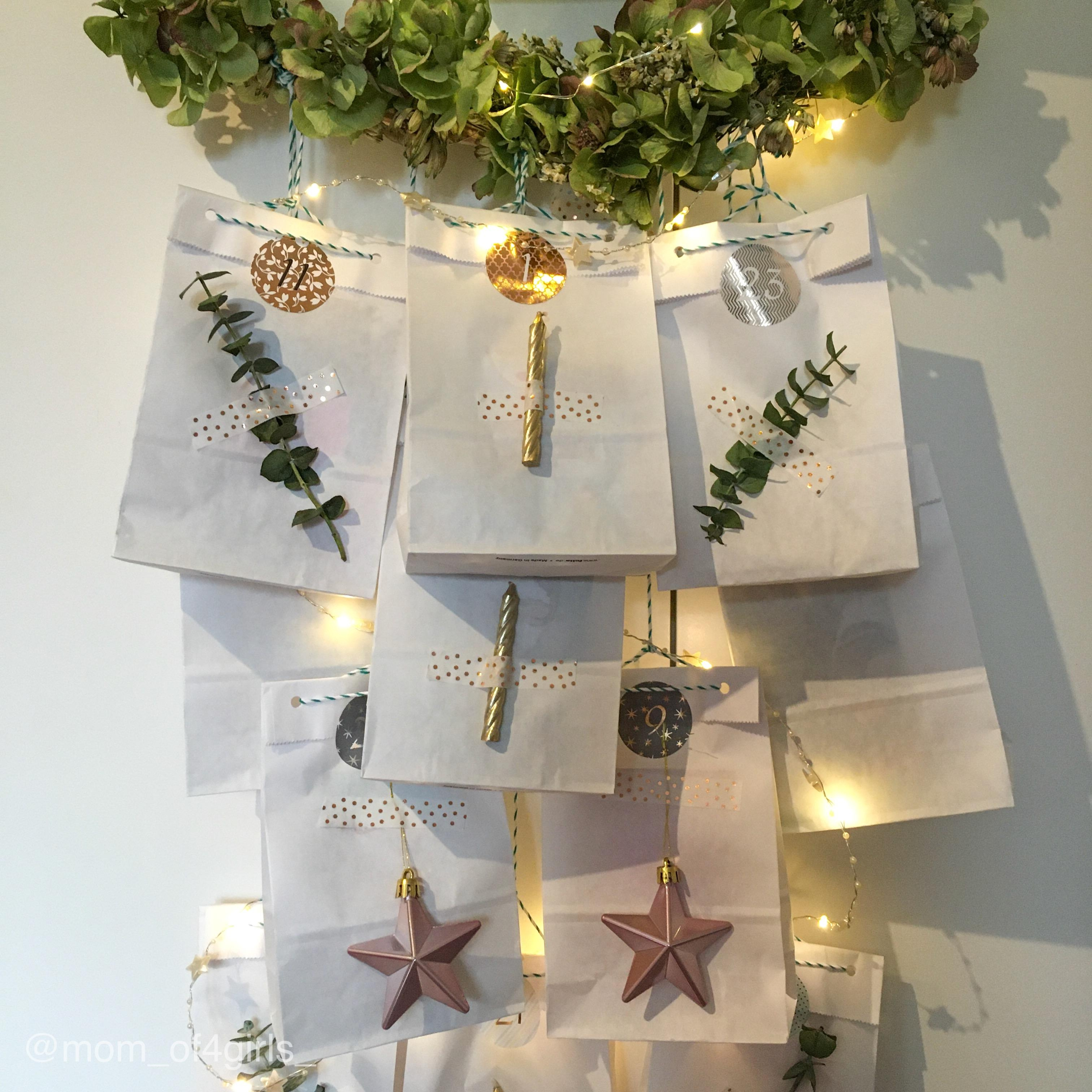 1 our of 4 Advent calendars #adventskalender #adventskalenderdiy #diyadventskalender #adventskranz #wreth #kranz #diy