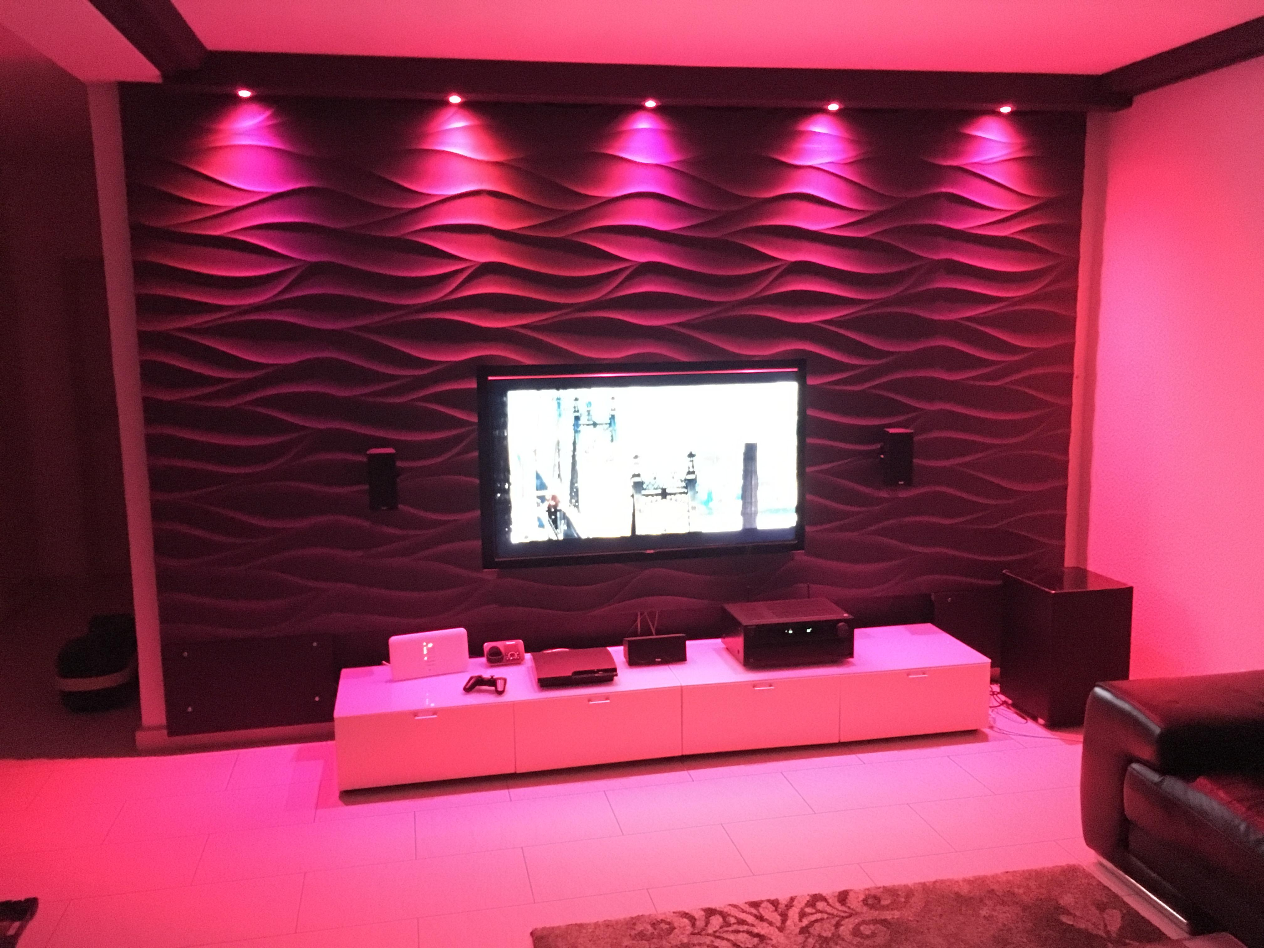 3D Wandpaneele An Der Tv-Wand #Wandverkleidung #Wand