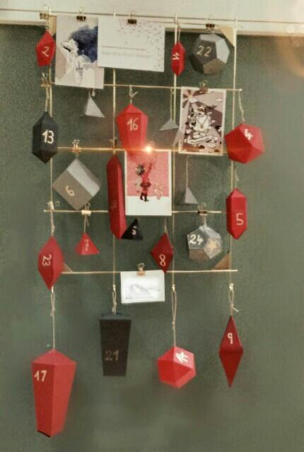 #adventskalender #gold&red #geometry #diy