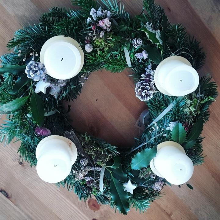 Adventskranz #diy #waldzauber #tannengrün #advent