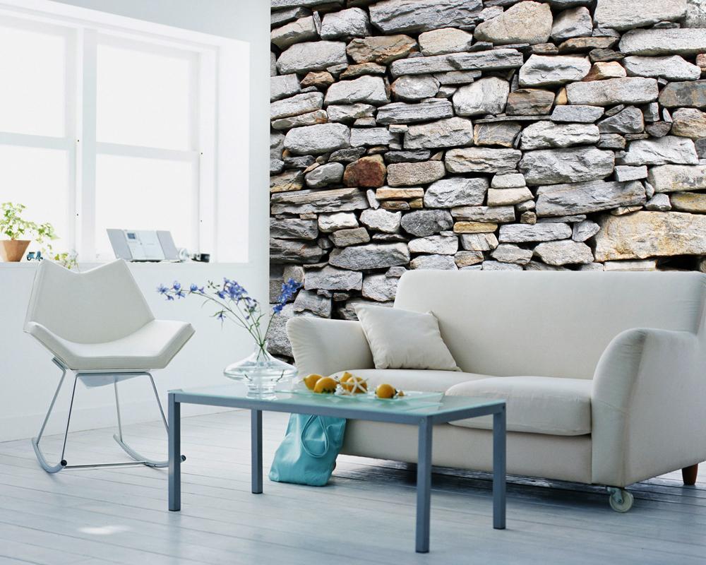 Afrikanische Steinwand Fototapete Wandbild #küche #wohnzimmer  #wandgestaltung #loft #steinwand #designwand