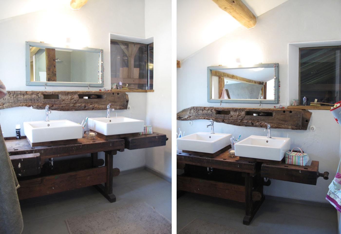 Waschbecken aus holz bilder ideen couchstyle for Badezimmer ideen waschtisch