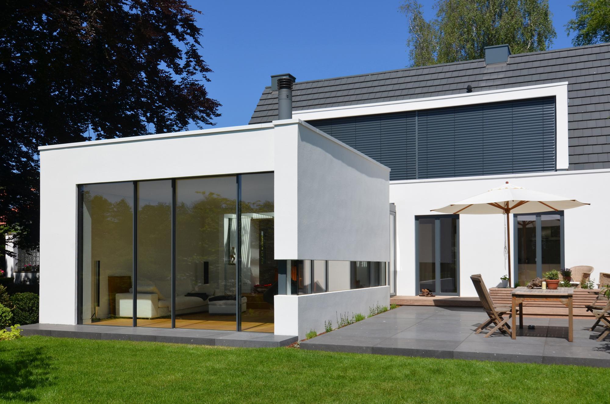 Anbau Mit Neuer Terrasse Fensterfront Terrasse Ha