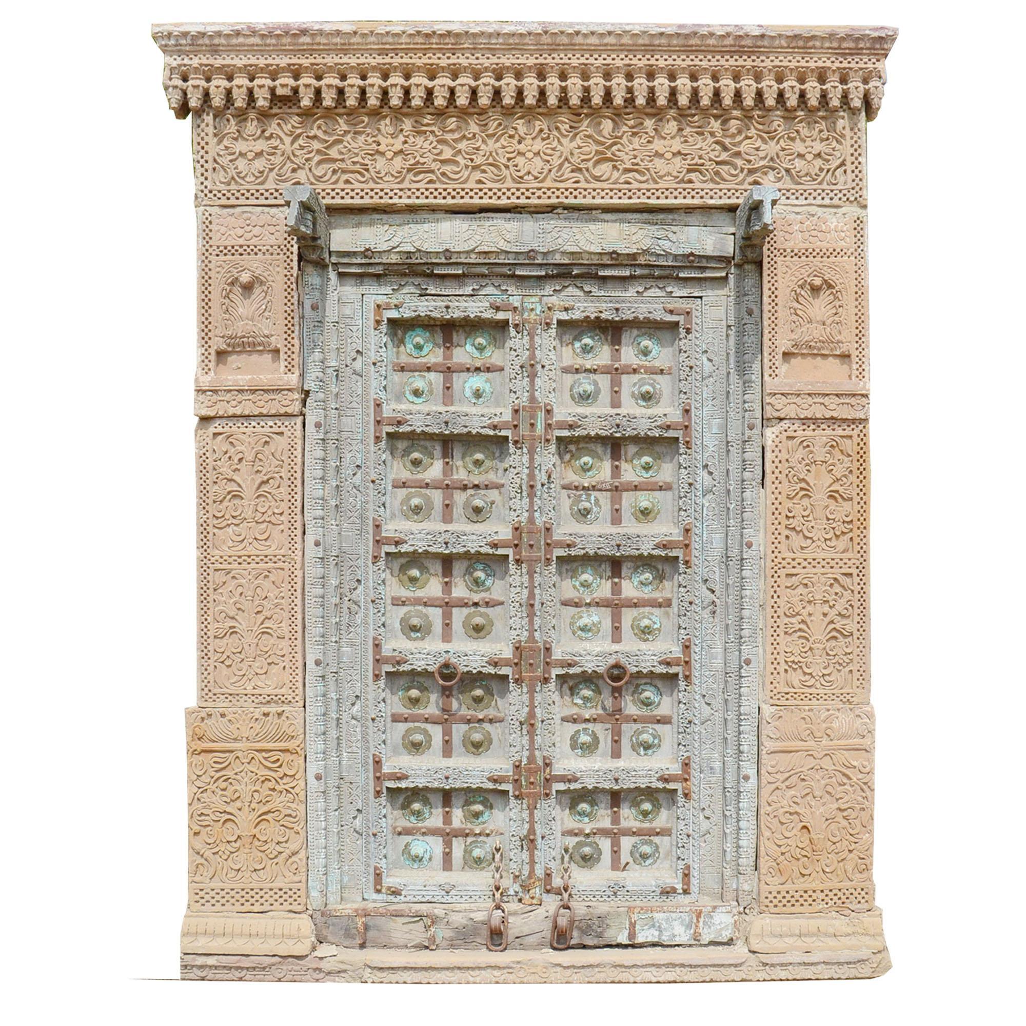 Guru Shop antike tür aus rajasthan eingang guru shop
