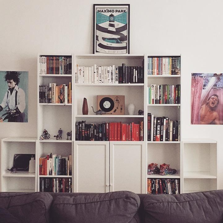 #apartmentlove #ikea #billy #books #music #movies