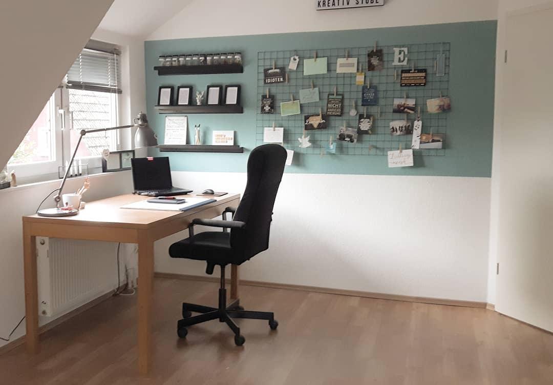 Arbeitszimmer farbe  arbeitszimmer #arbeitsplatz #schreibtisch #memoboar...