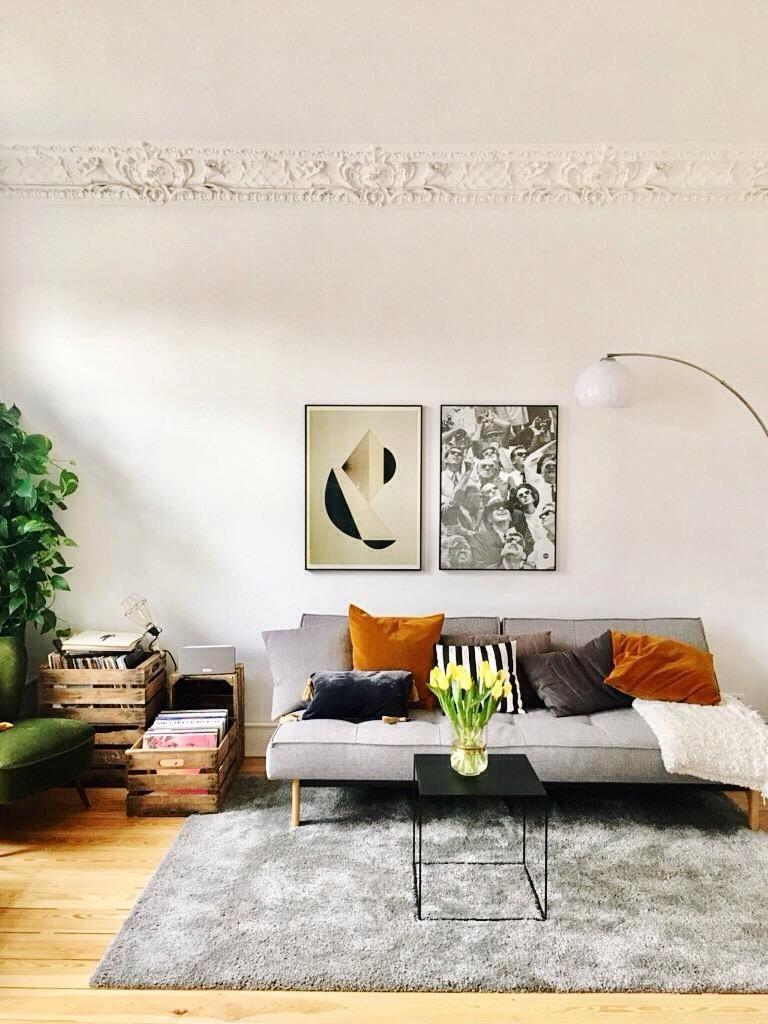 wohnzimmer kunst wandgestaltung, kunst • bilder & ideen • couch, Design ideen