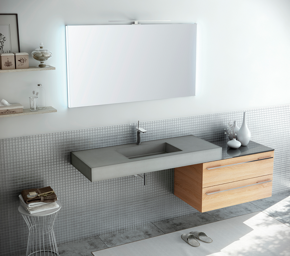 Emejing badezimmerschrank mit waschbecken photos house for Badezimmerschrank set