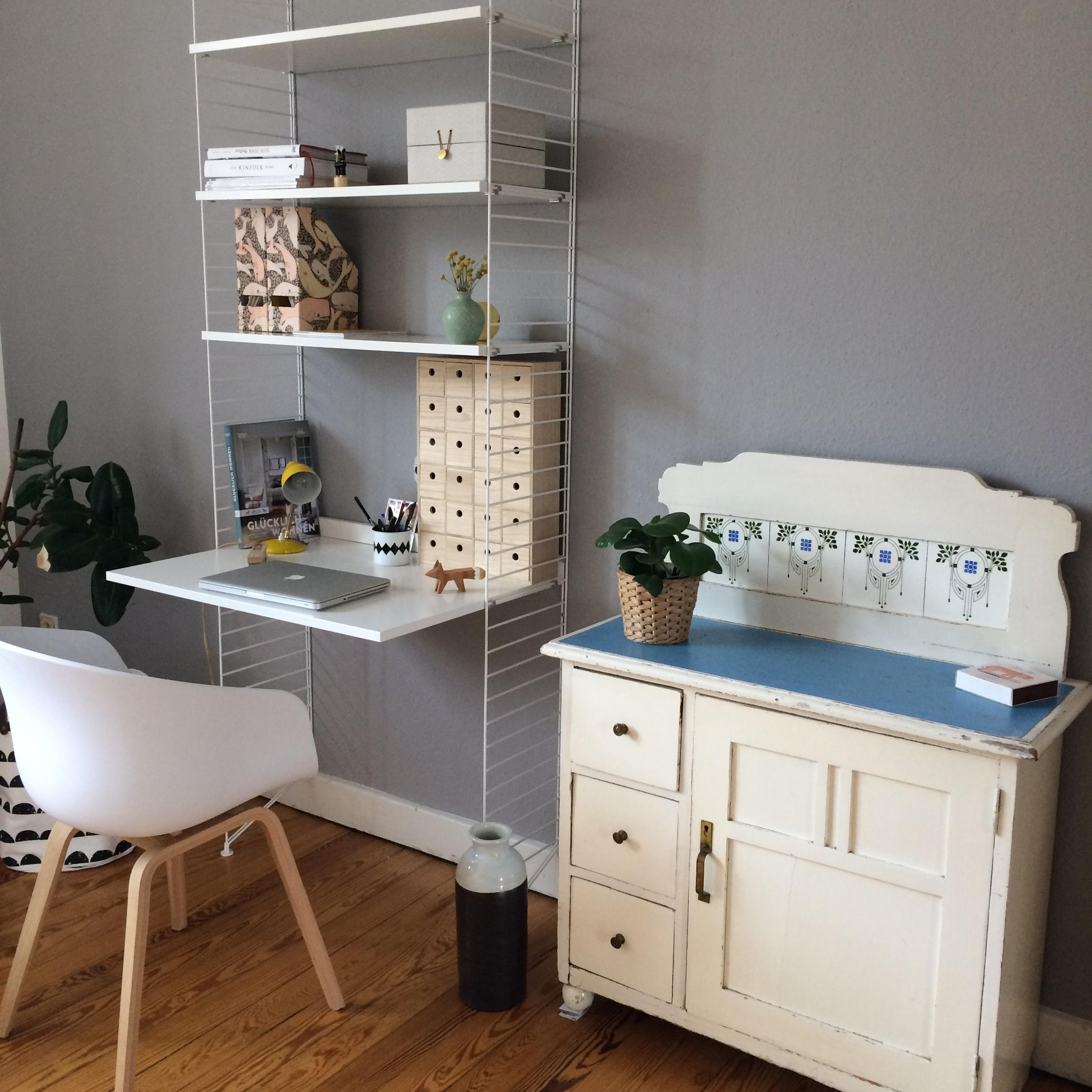 Aufgeräumter #Arbeitsplatz. #interior #living #scandystyle #altundneu  #mixandmatch #workspace