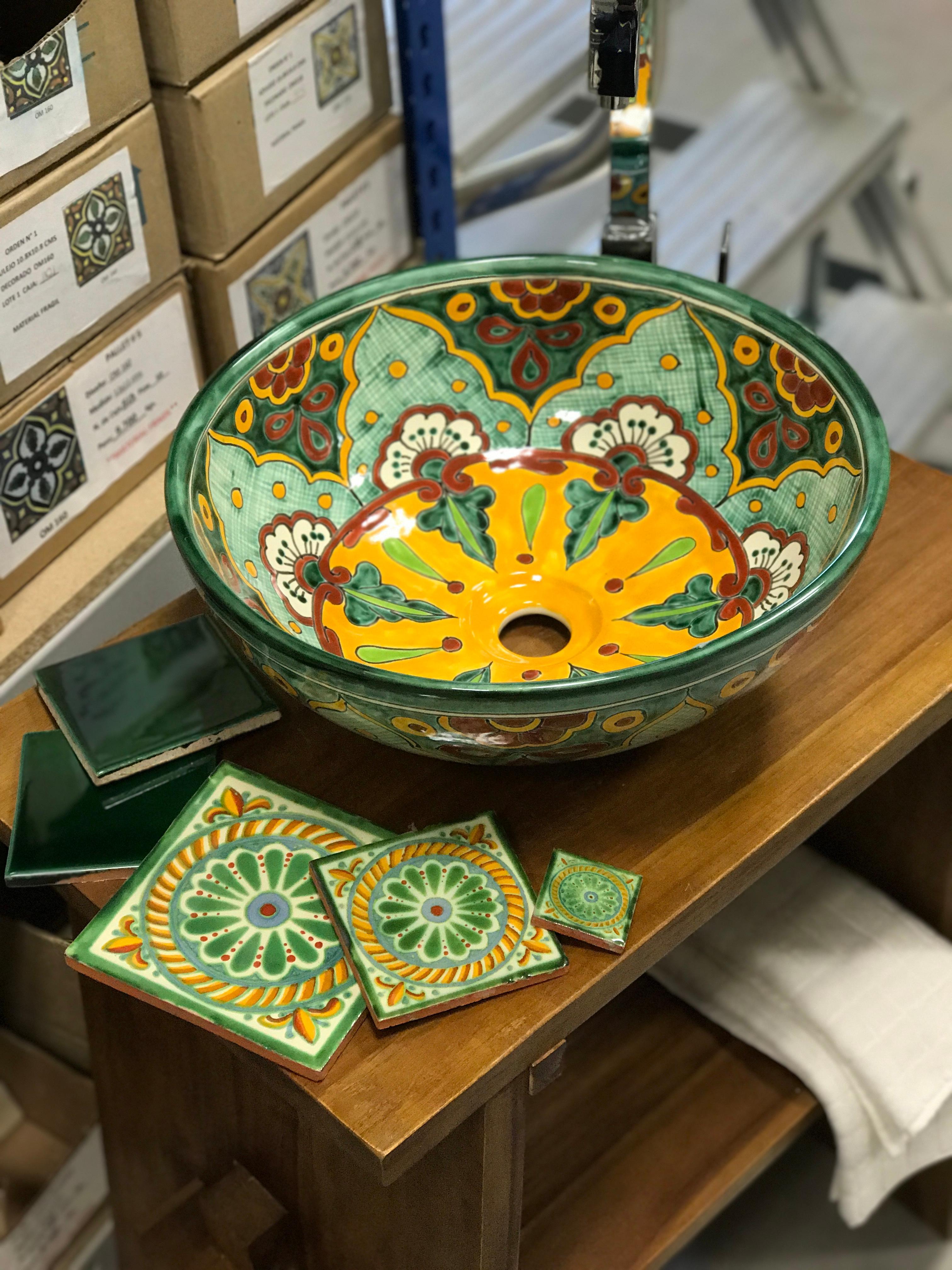 Großartig Ausgefallene Waschbecken Sammlung Von Fliesen Und In Grün Aus Mexiko #waschtisch