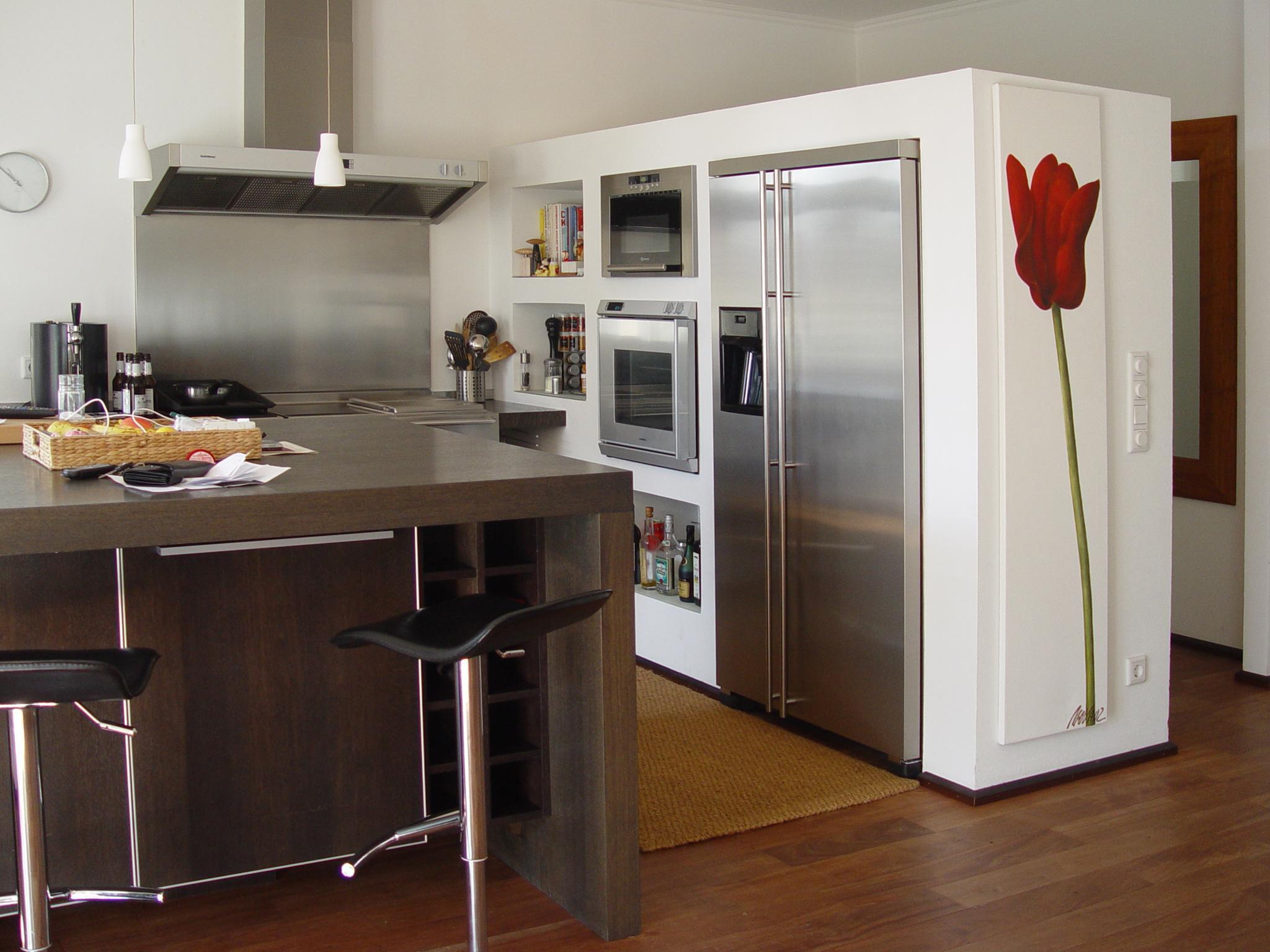 Side By Side Kühlschrank Verbauen : Backofen neben kuehlschrank: küchenzeile mit herd backofen und