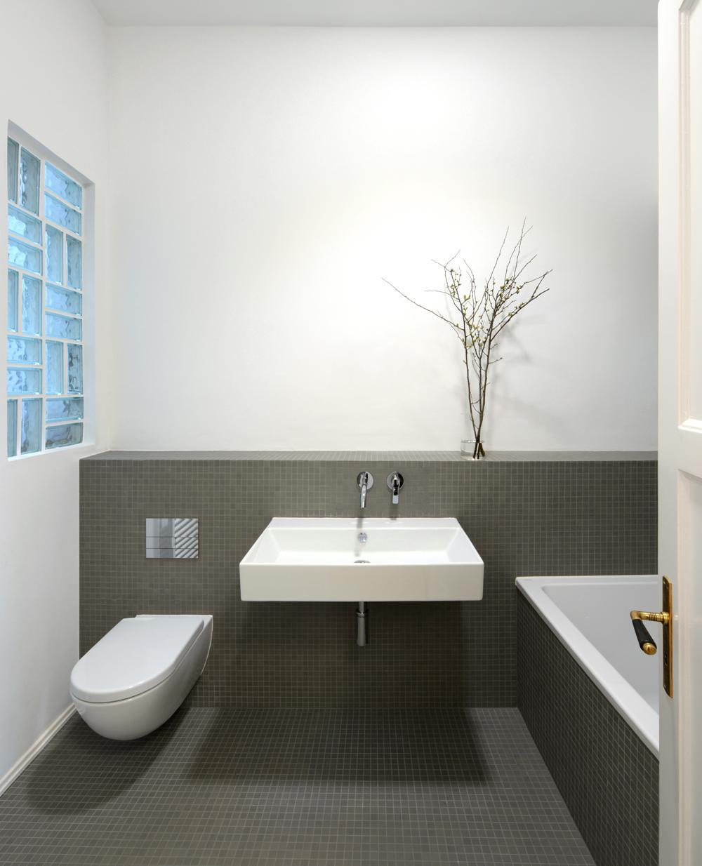 Bad - grau/weiß #bad #badezimmer #waschtisch ©Cynthi...