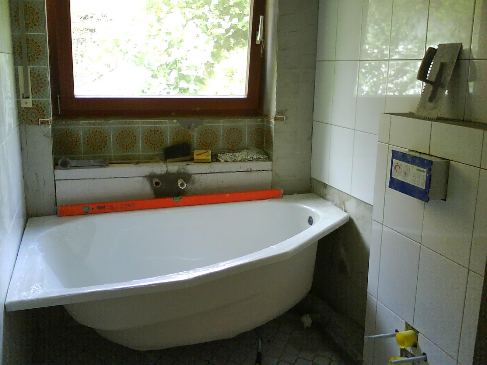 Bad Vorher / Nachher #fliesen #badewanne #weißefliesen ©Dagmar Schwenzfeuer