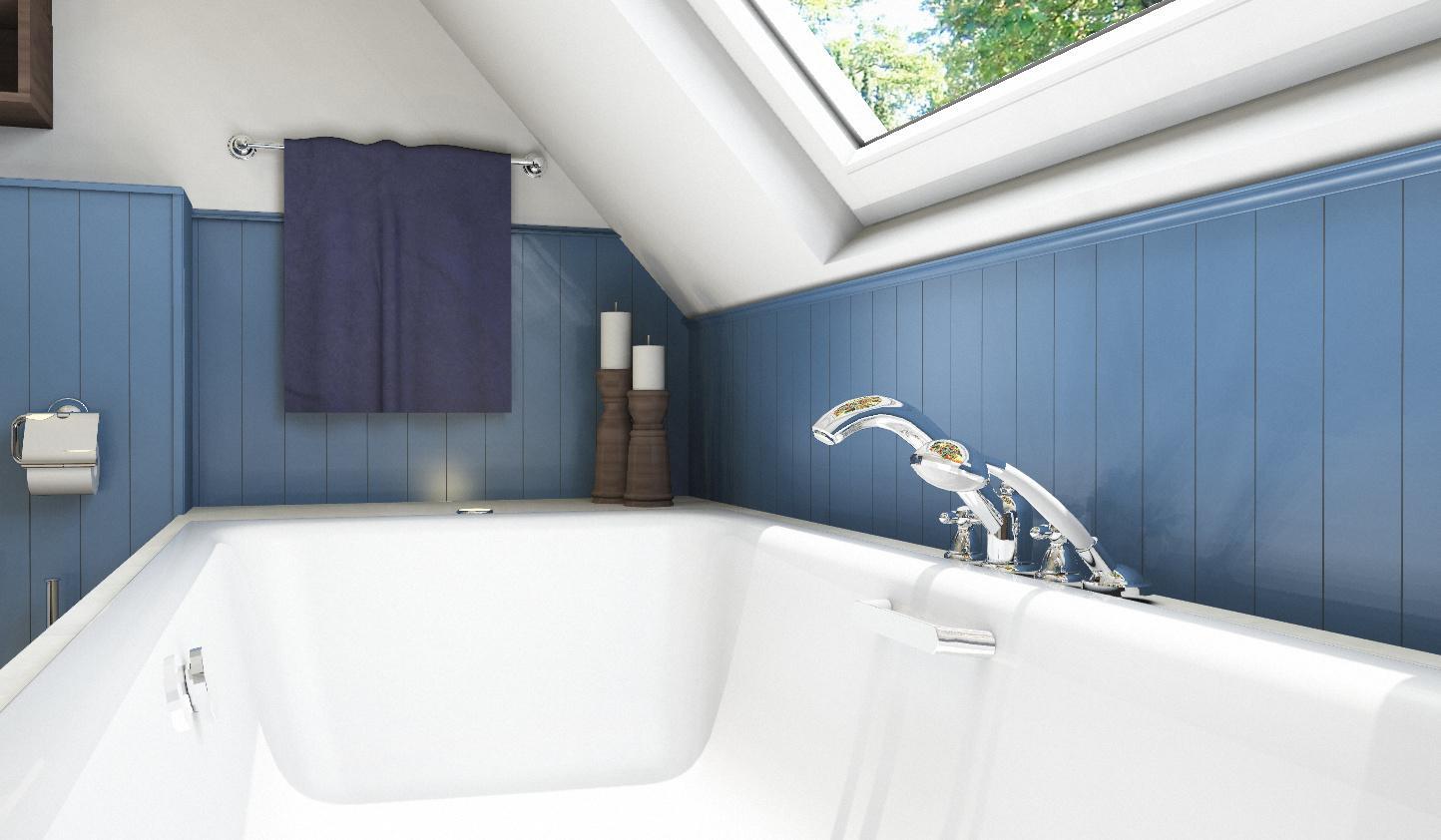 Eingelassene badewanne bilder ideen couchstyle - Badewanne mit armatur ...