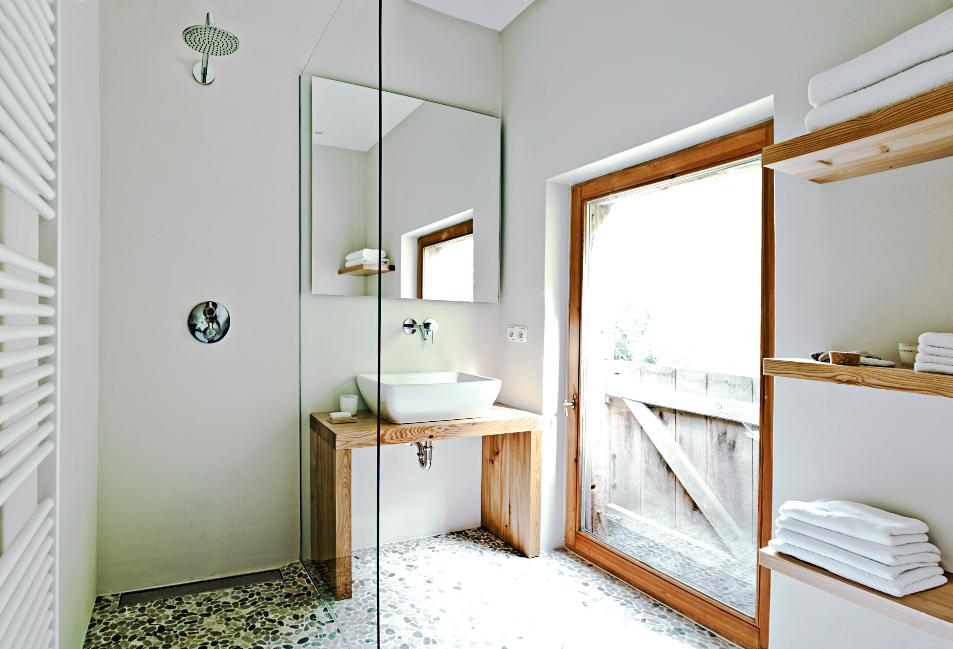Badezimmer Im Landhausstil Mosaikfliesen Badezimme