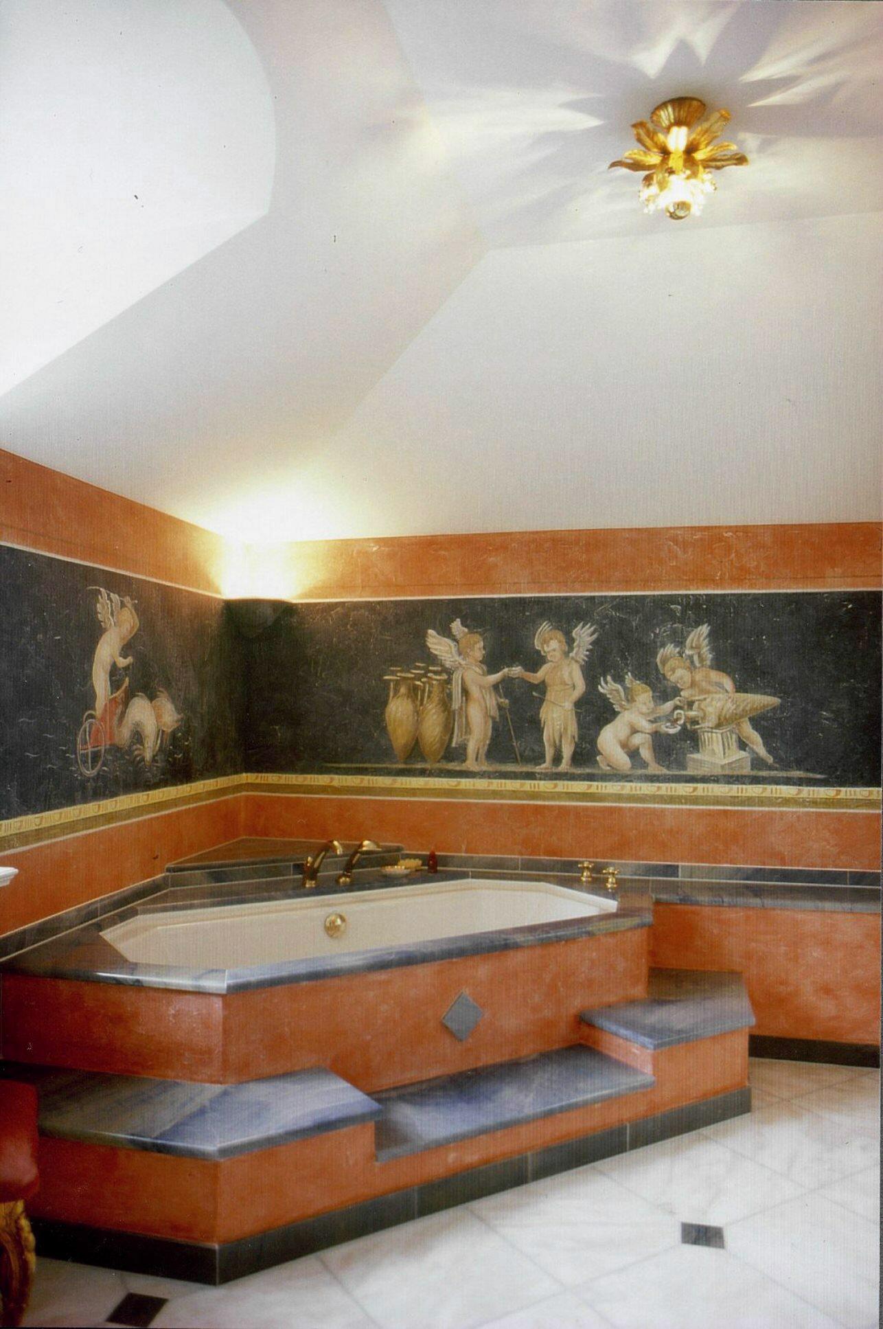 badezimmer im römischen stil #bad #wandgestaltung #w... ? couchstyle - Wandgestaltung Im Badezimmer