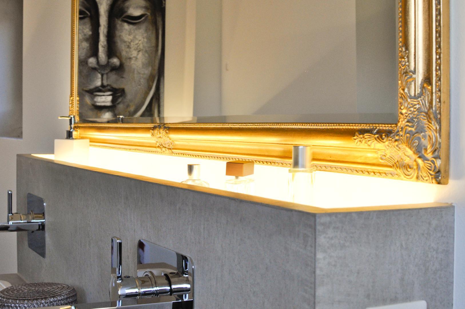 Badezimmer In Beton Cire   Purismus Pur #bad #badezimmerablage  ©elias Online.