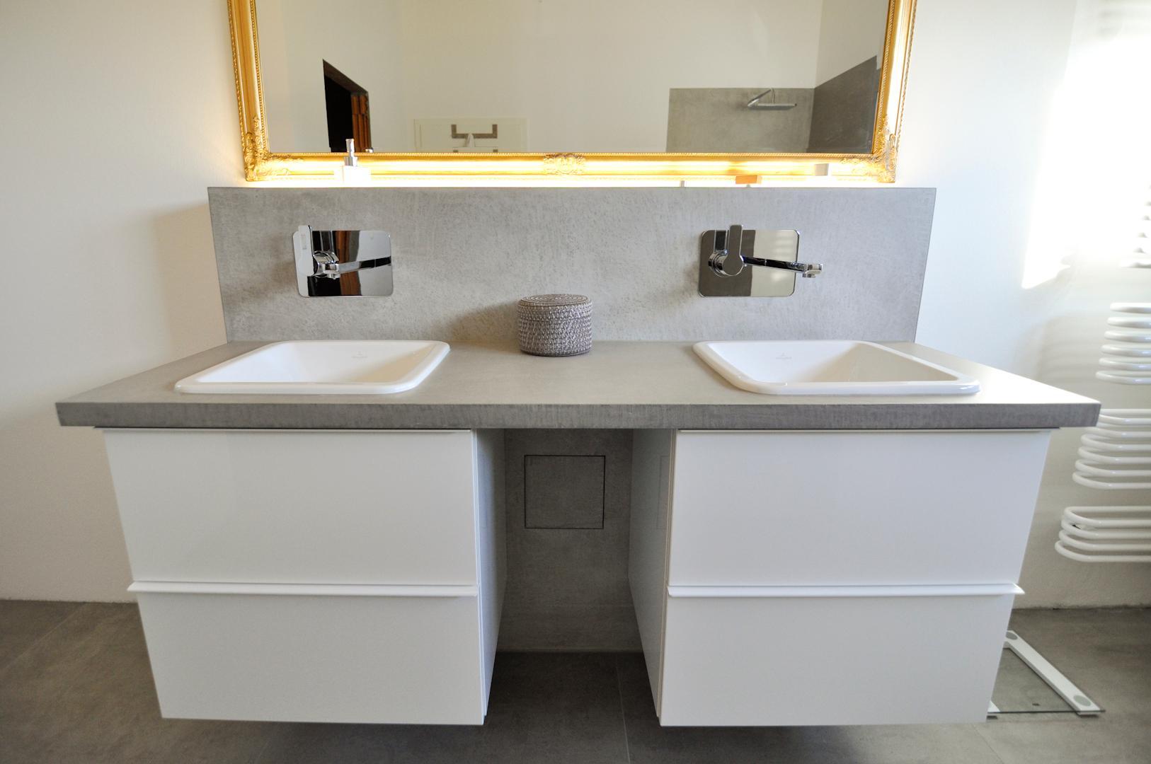 Badezimmer In Beton Cire   Purismus Pur #bad #waschbecken ©elias Online.