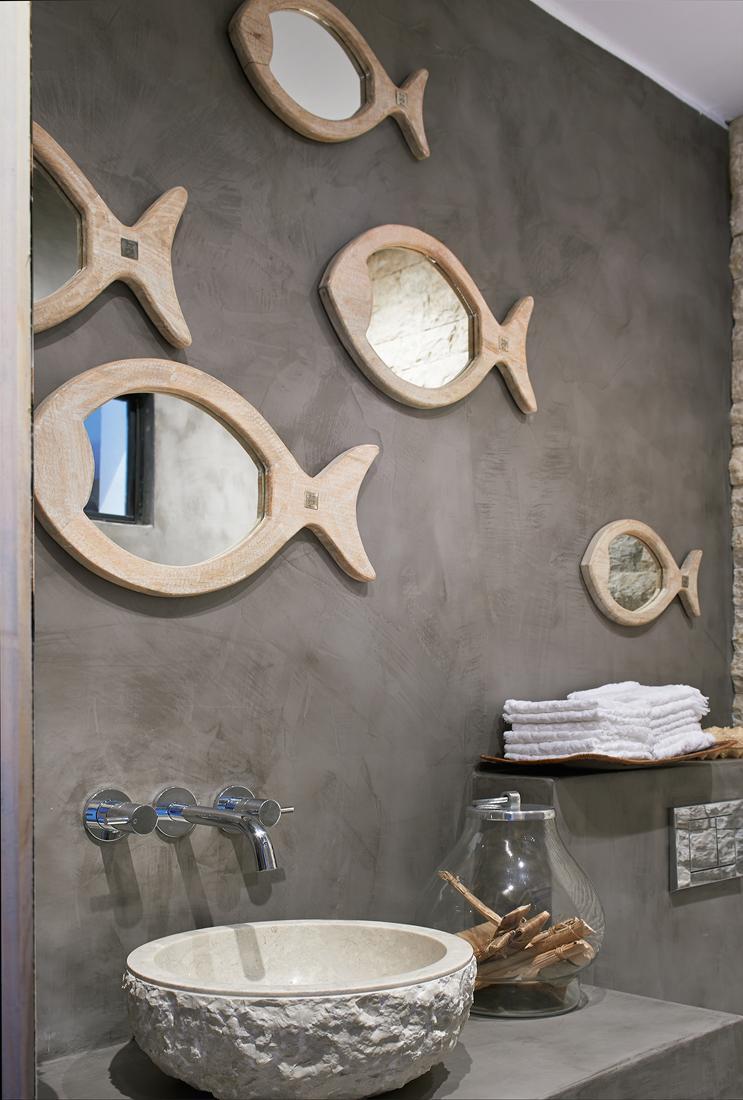 Awesome Badezimmer Maritim Einrichten Mit Fisch Spiegel #bad #spiegel #wanddeko # Maritim #