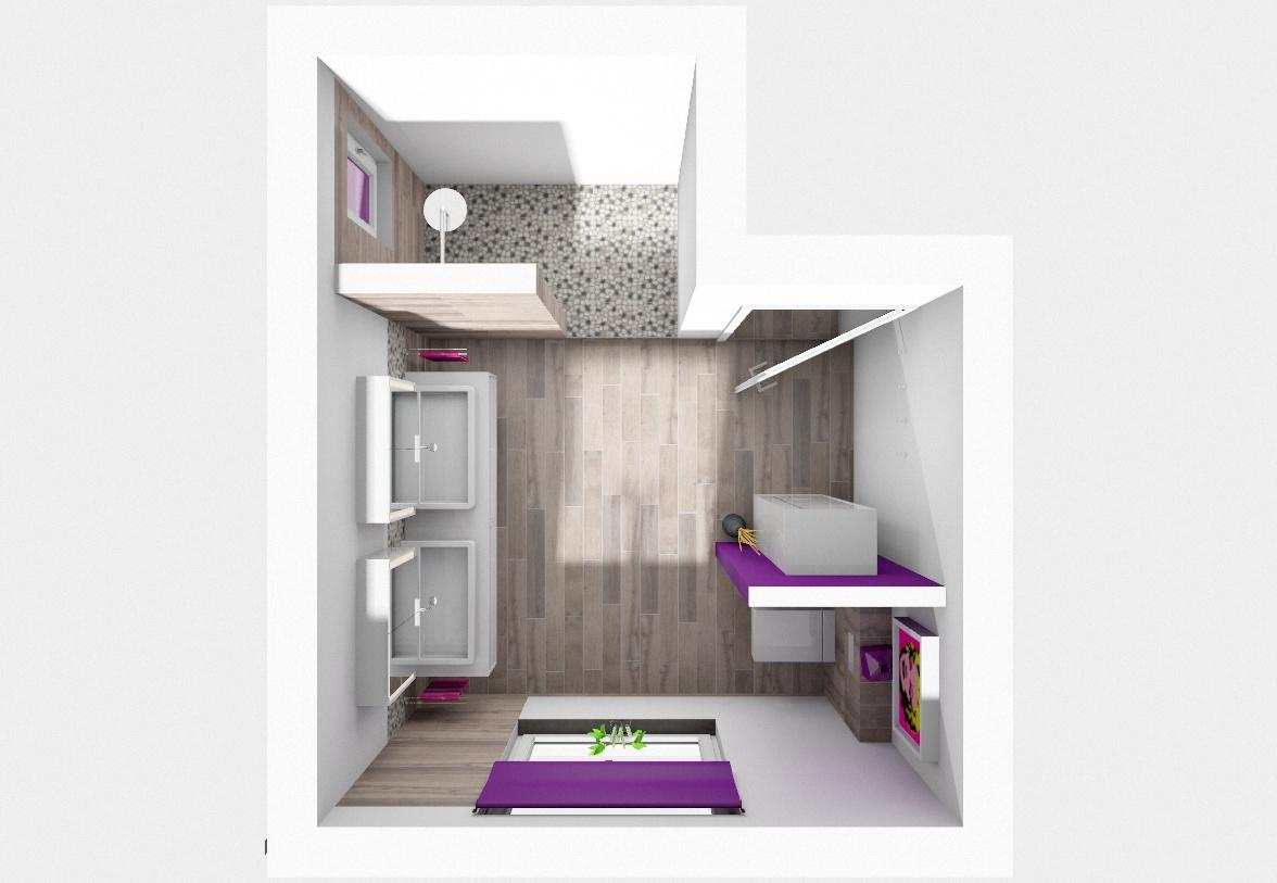 Badezimmer Mit Farbe #holzwand #badezimmerschrank ©my Lovely BATH Planer