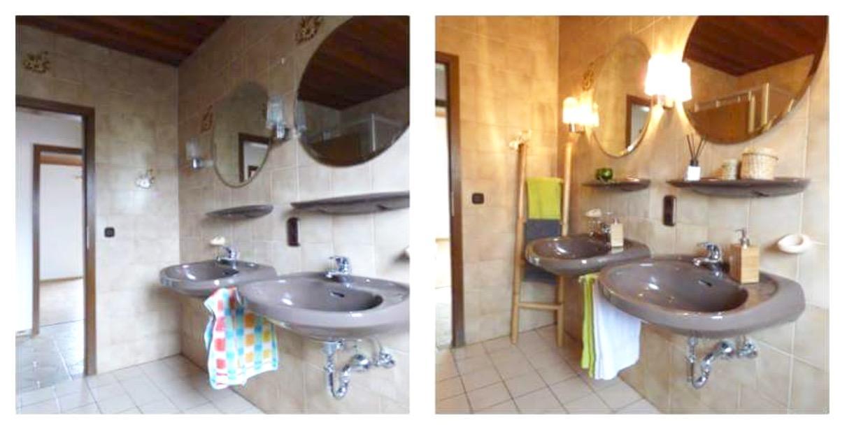 Superior Trendy Badezimmer Vor Und Nach Dem Homestaging Durch Home Staging Mnch With Wie  Gestalte Ich Mein Bad.