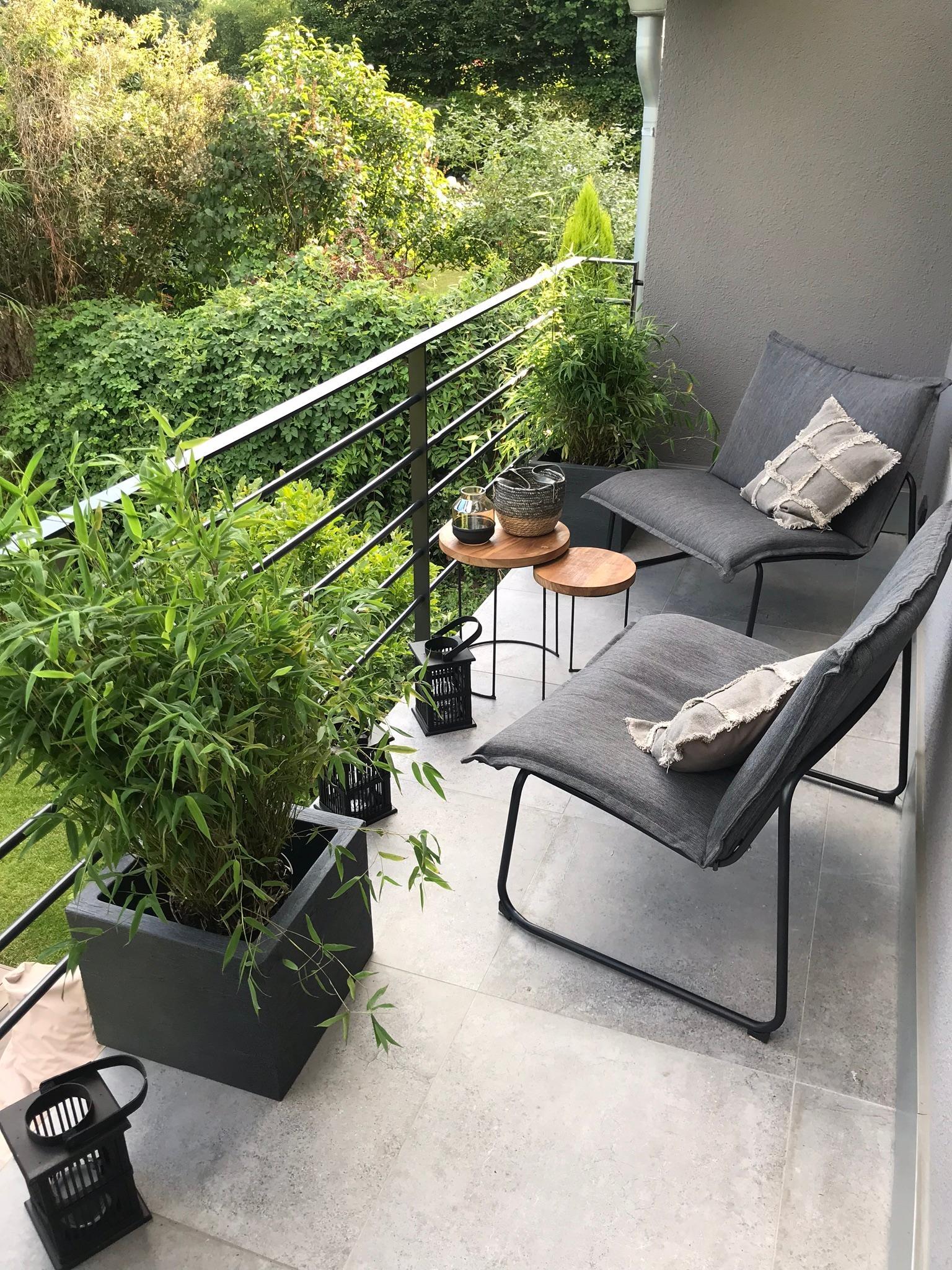 Balkon Terrasse Bambus Garten Terrassenideen G