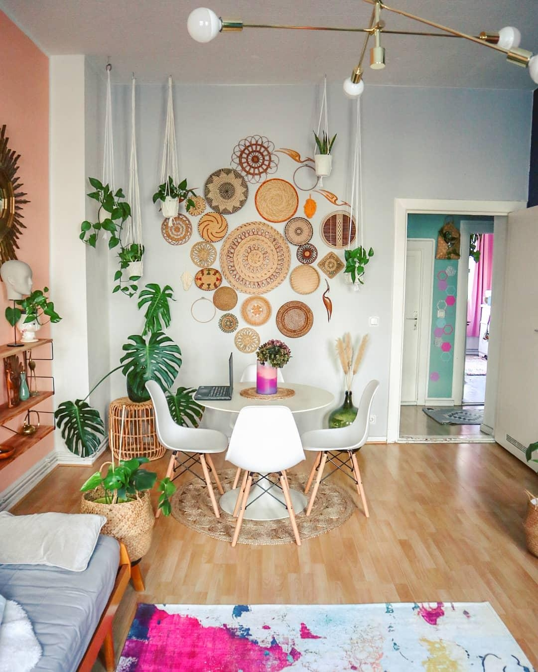 #basketwall  #bohemian #diningspace