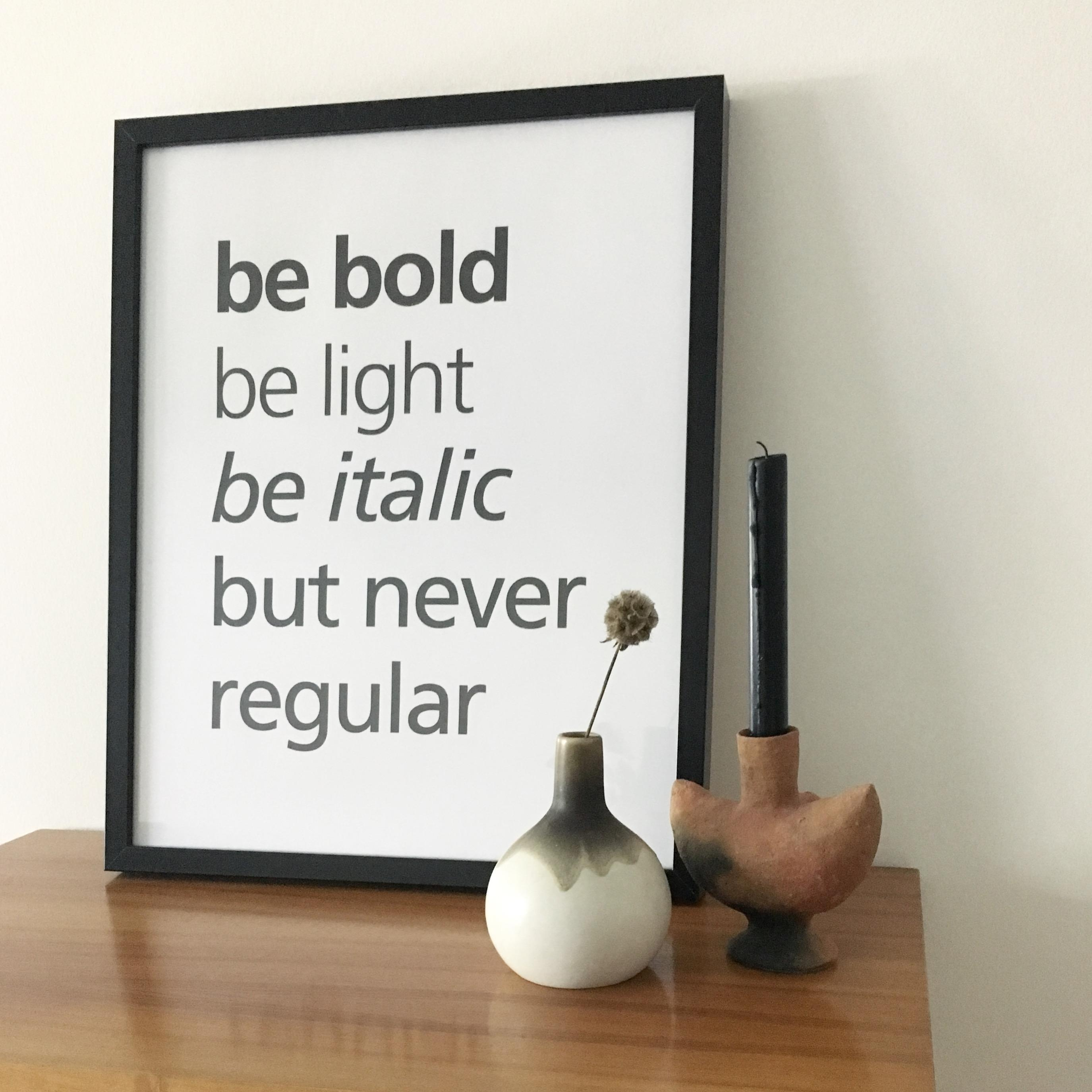 Be bold, be light, be italic, but never regular #midcentury #vintage #happyday #happysunday #flohmarkt #secondhand