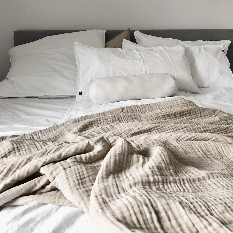 Bedroom Bed Schlafzimmer Beige White Minimalis