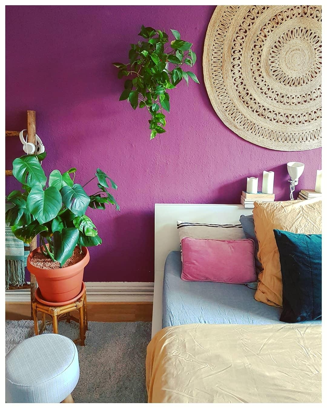 #bedroom #colorful #plants #bohohome #bohemian