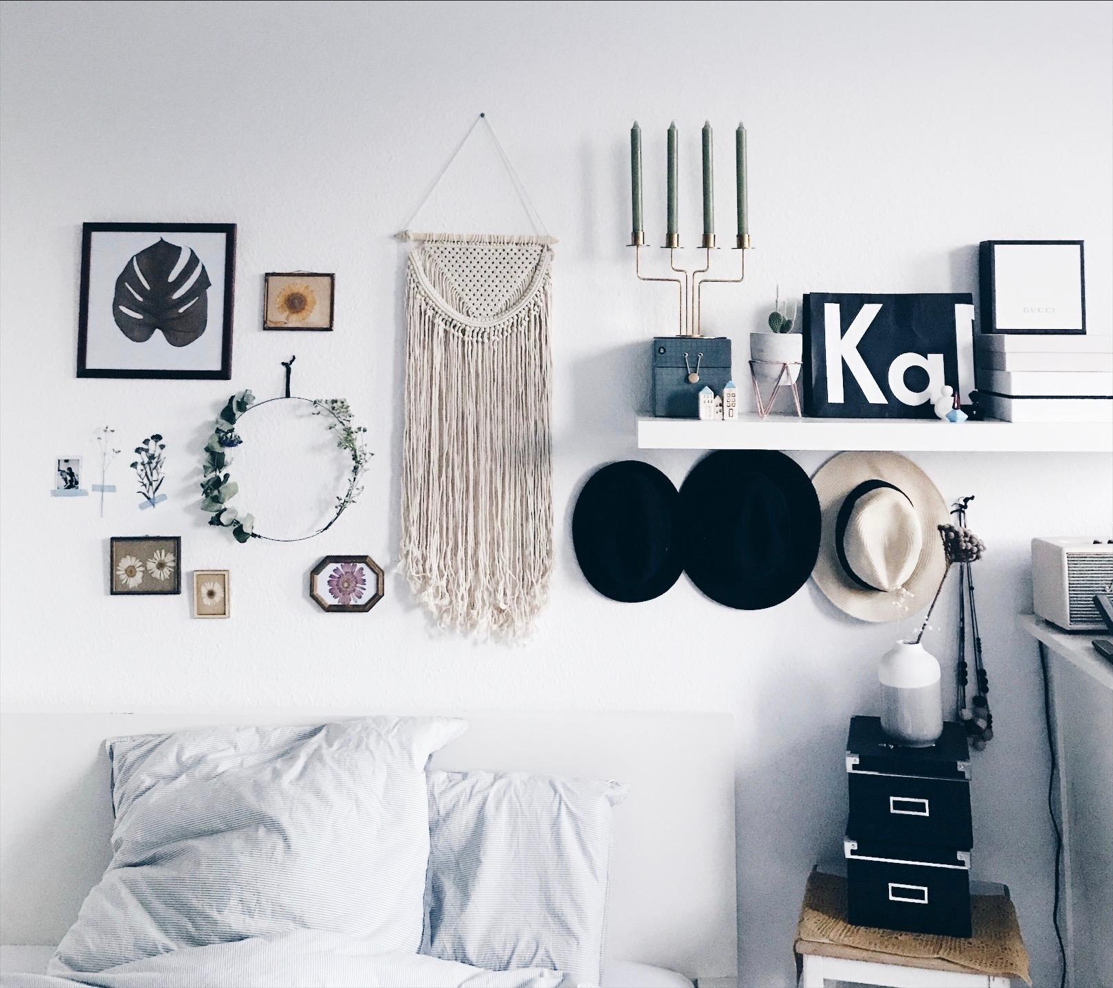 bedroom #living #cozy #schlafzimmer #wanddeko #kerz...