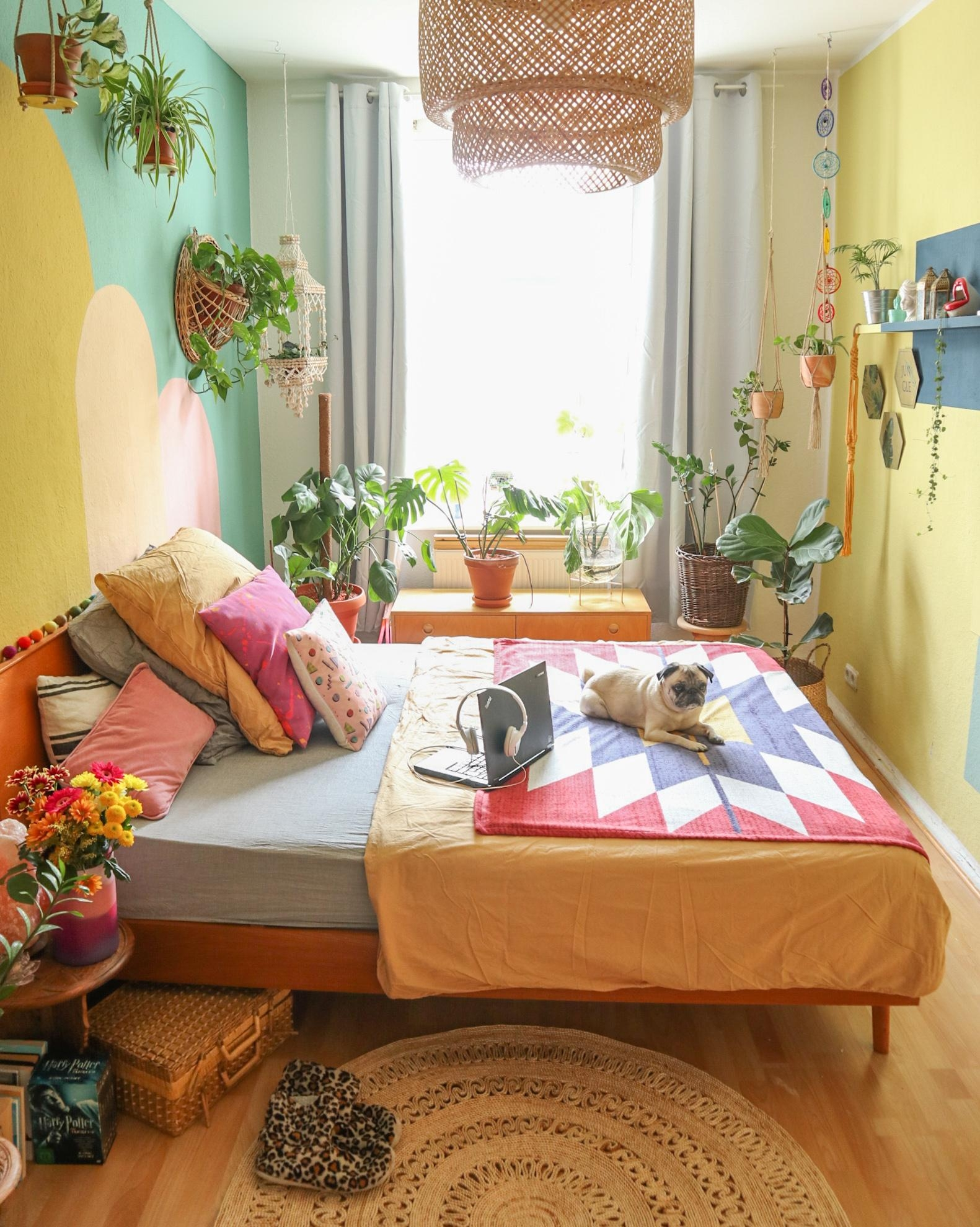 #bedroom #plantlover #colorful