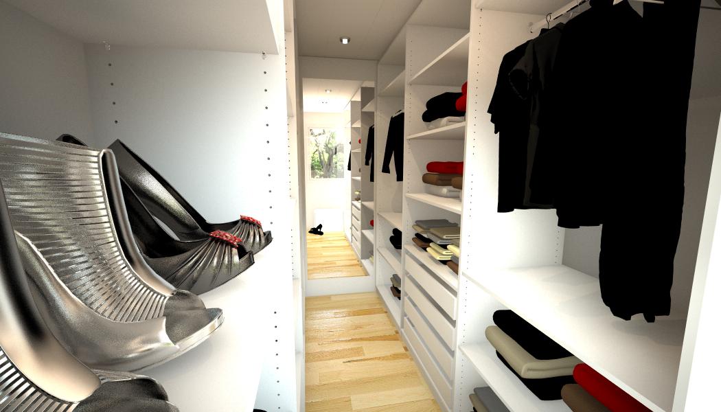 Begehbarer Kleiderschrank für schmalen Raum #regal #...