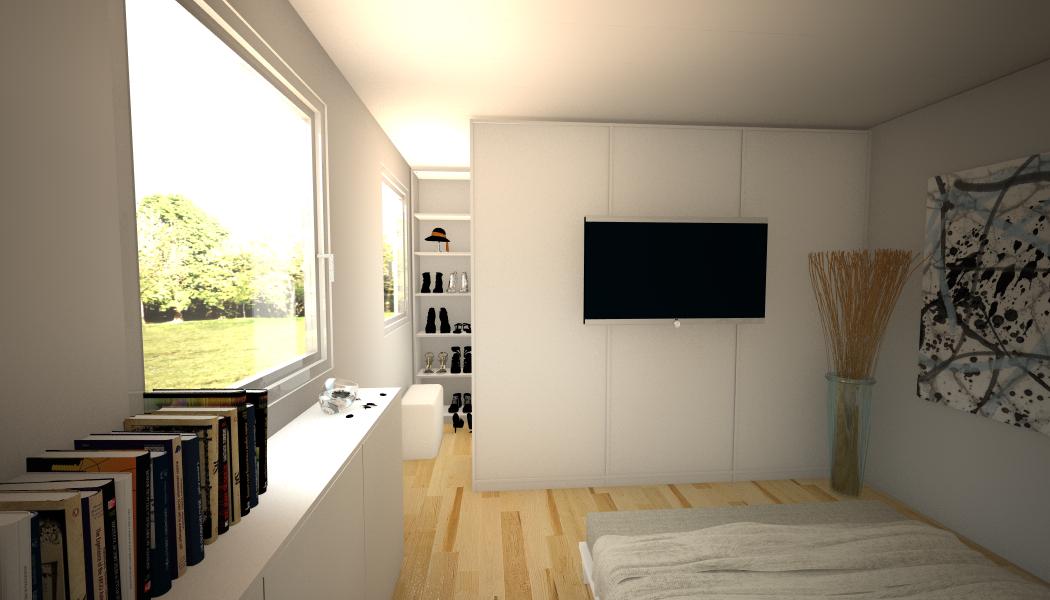 Begehbarer Kleiderschrank im Schlafzimmer #kleidersc...