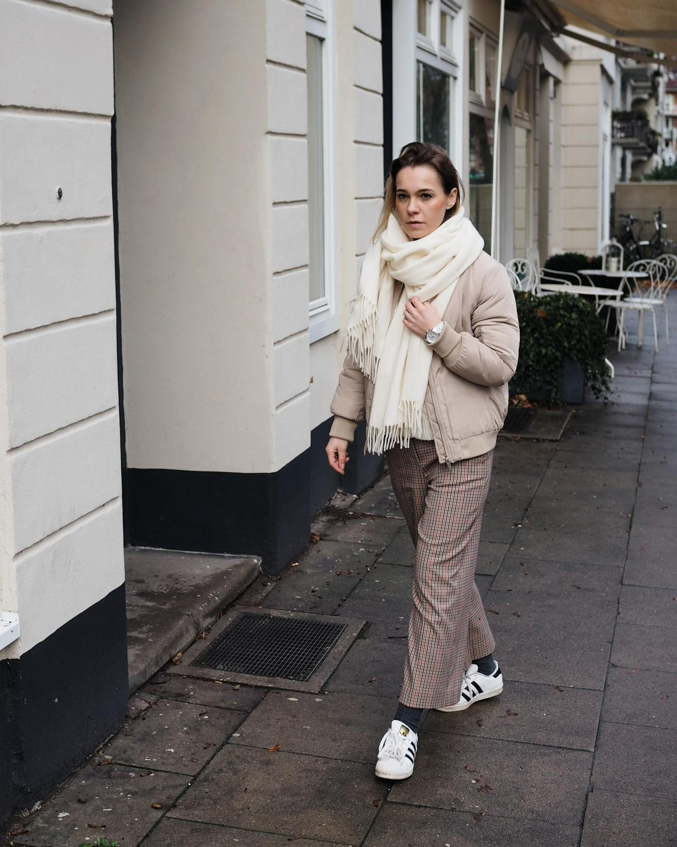 Beige Töne 🐑 #kariert #karo #fashion #winteroutfit #fashioncrush