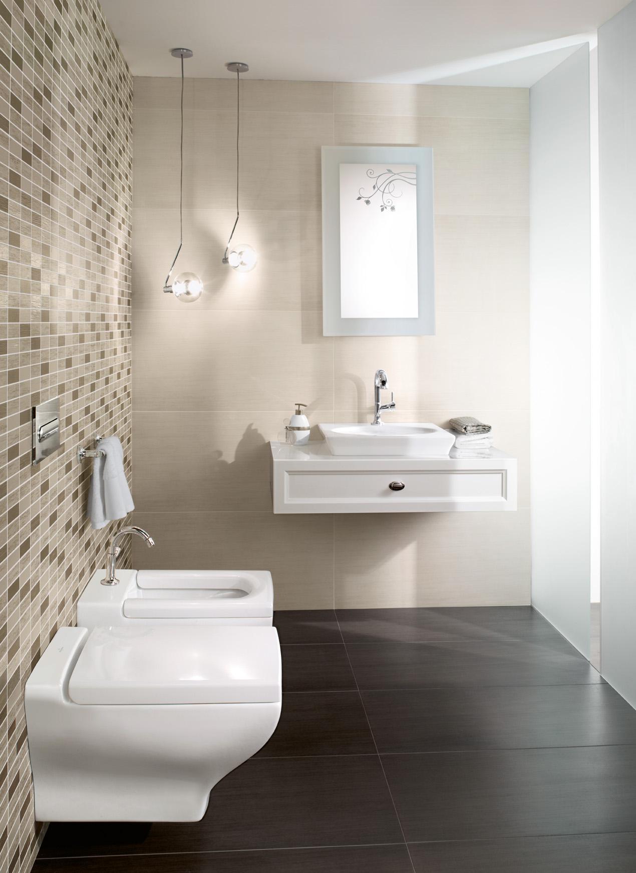 wandgestaltung für das badezimmer • bilder  ideen