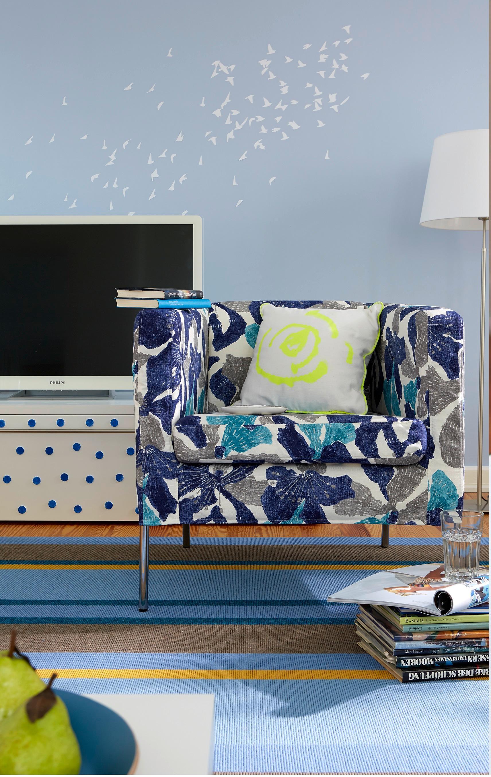 Blauer Bezug Für Deinen Sessel #stuhl #sessel #kissen #vorhang #ikea ©