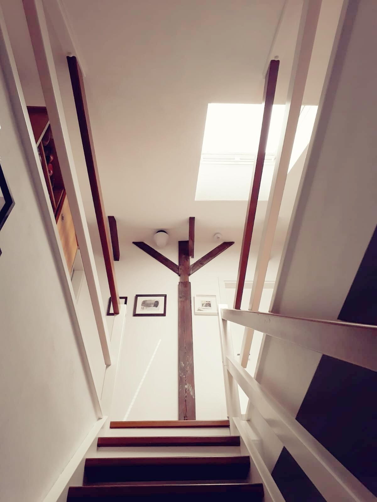 Dachgeschoss Treppe | Blick Nach Oben Treppe Dachgeschoss Couch