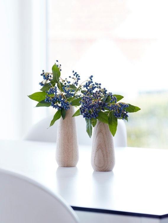 #Blumen stilvoll verschenken! #Muttertag #Holzvase #Dekoration © applicata