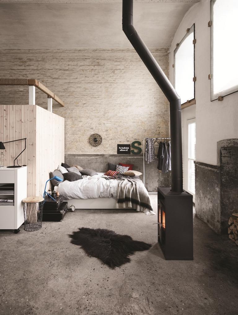 BoConcept Schlafzimmer #bett #teppich #kamin #kissen...