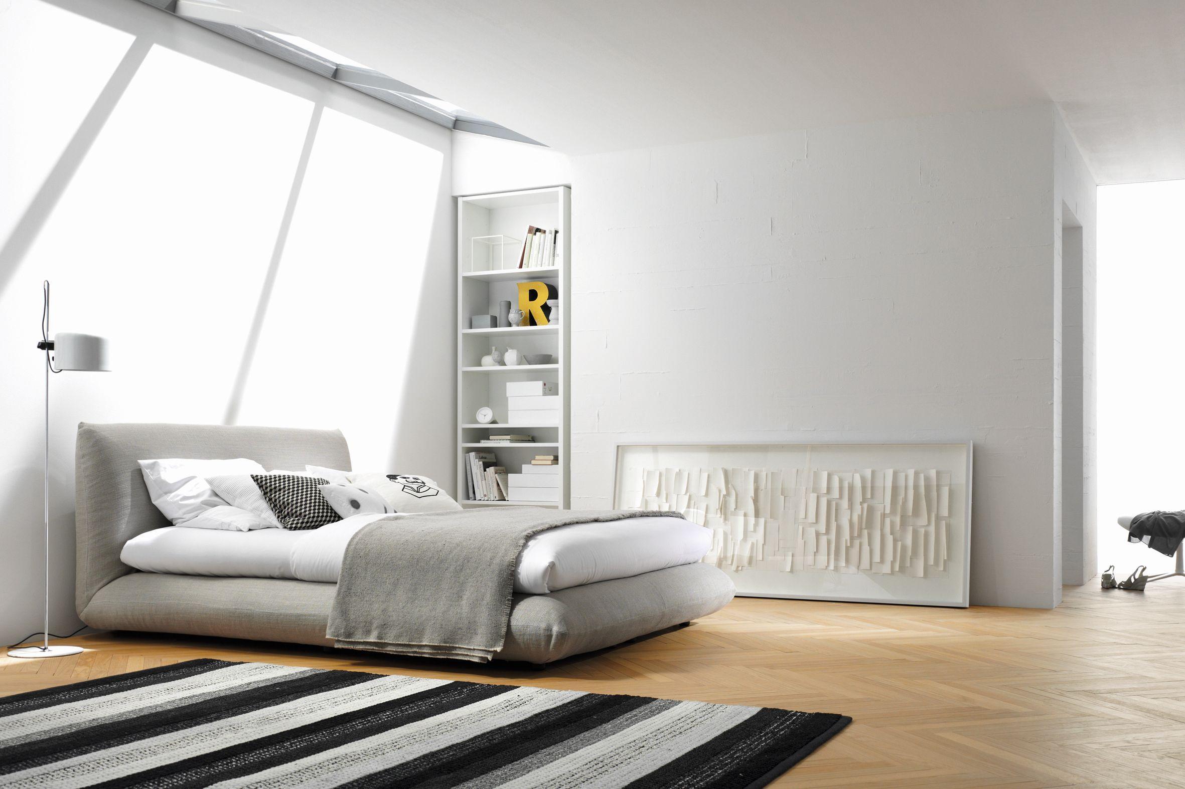 """Boxspringbett """"Jalis"""" Im Grau-Weißen Schlafzimmer #B"""
