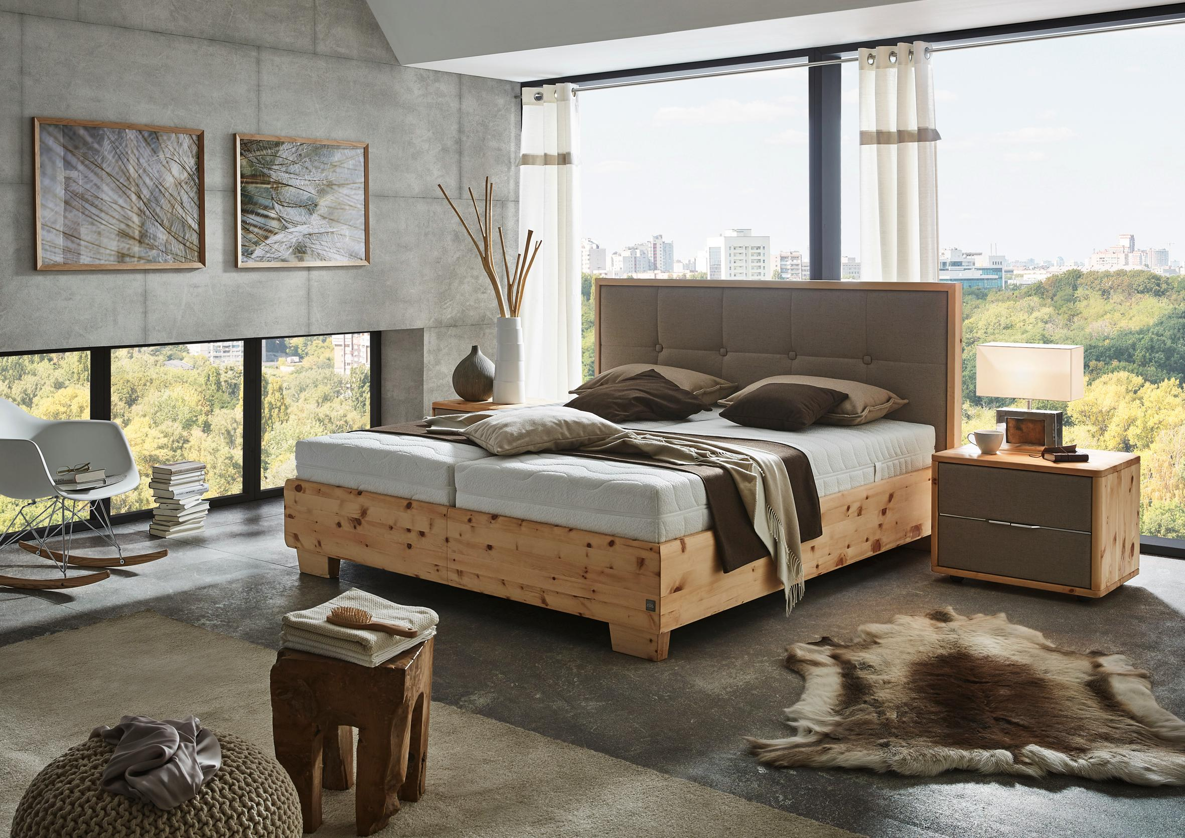 boxspringbett pure pine aus zirbenholz von ada na. Black Bedroom Furniture Sets. Home Design Ideas