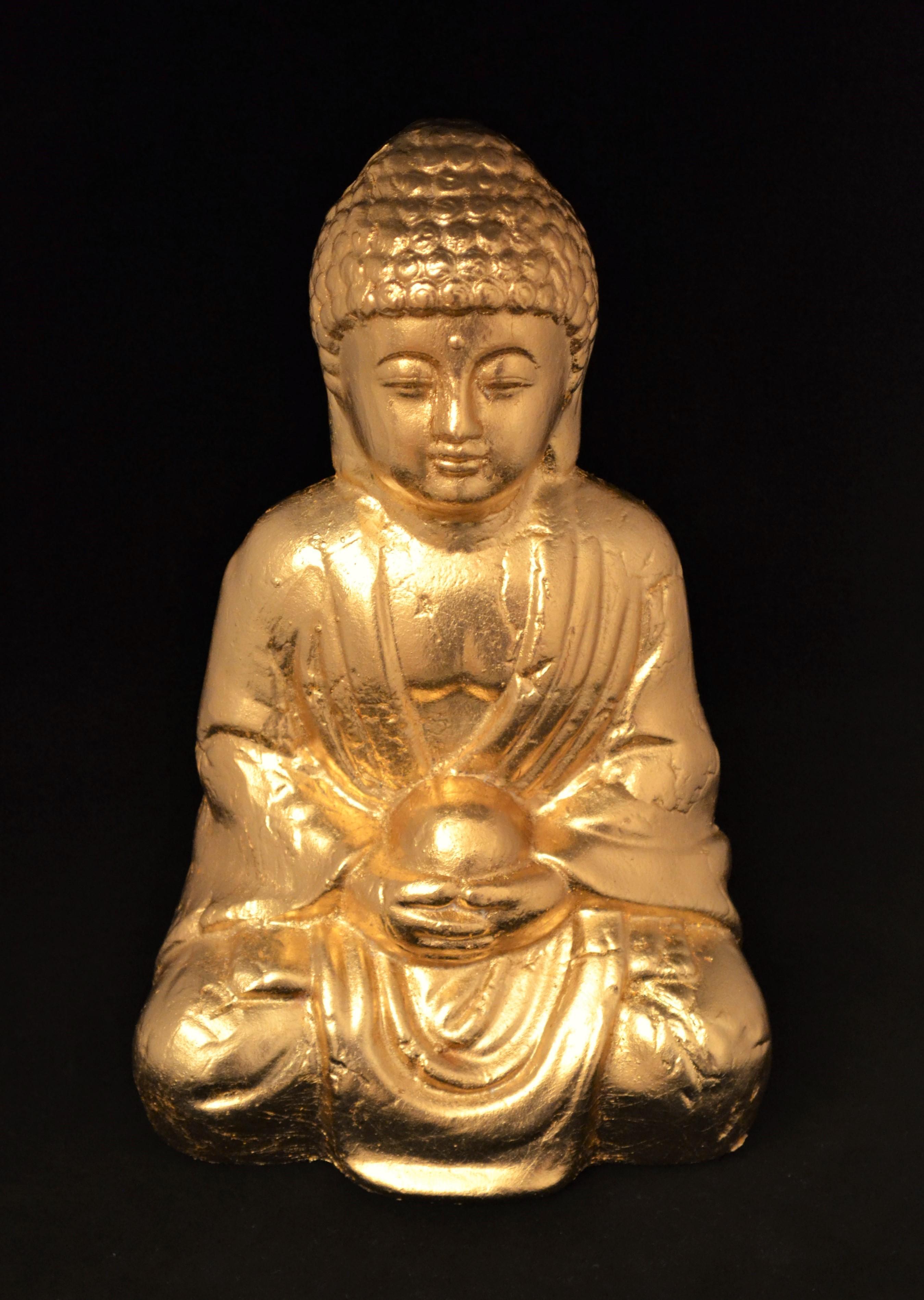 Buddha Figur Vergoldet CRPF Design