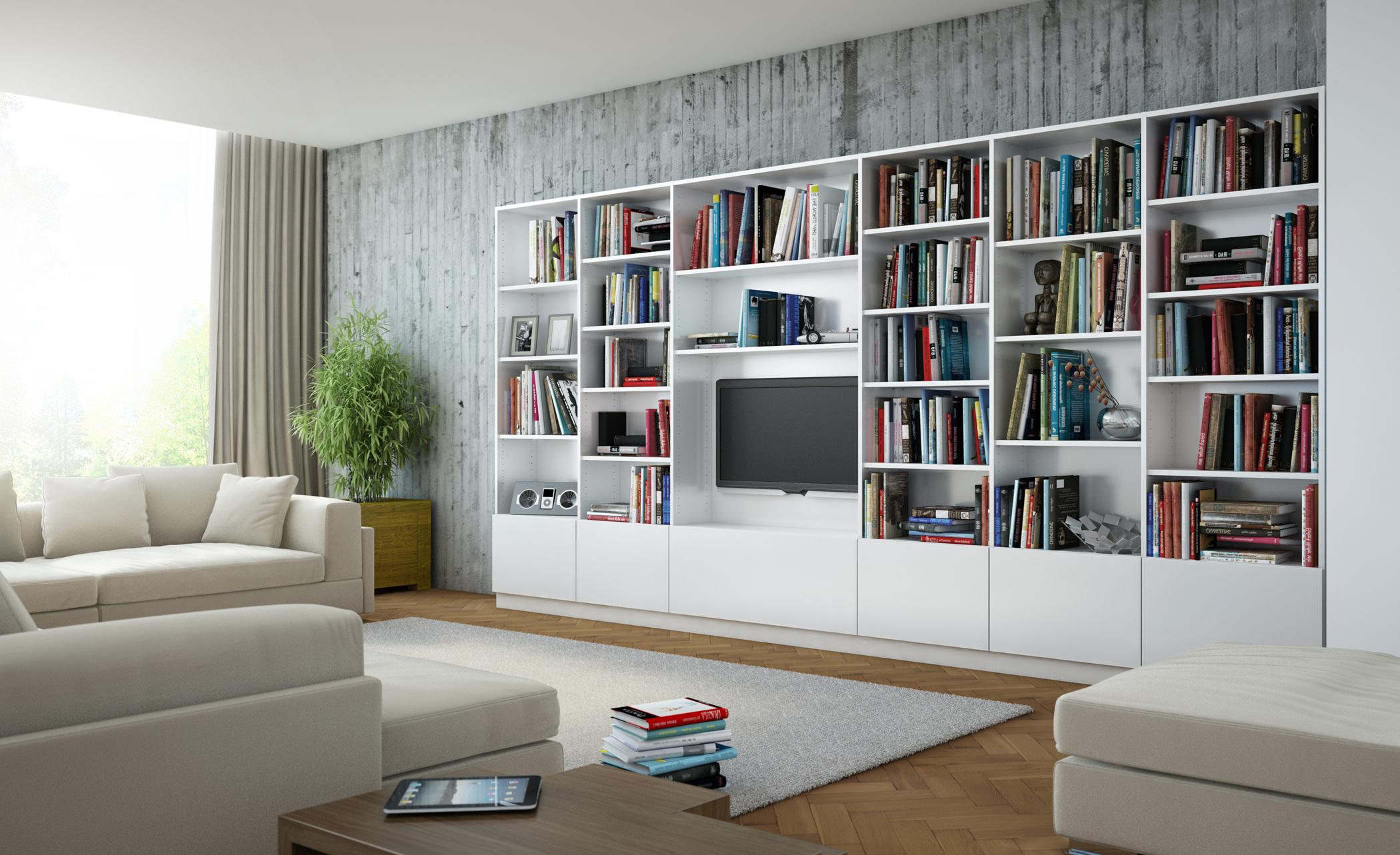 Bücherregal Multifunktional Einsetzen #bücherregal #teppich #sofa ©Meine  Möbelmanufaktur