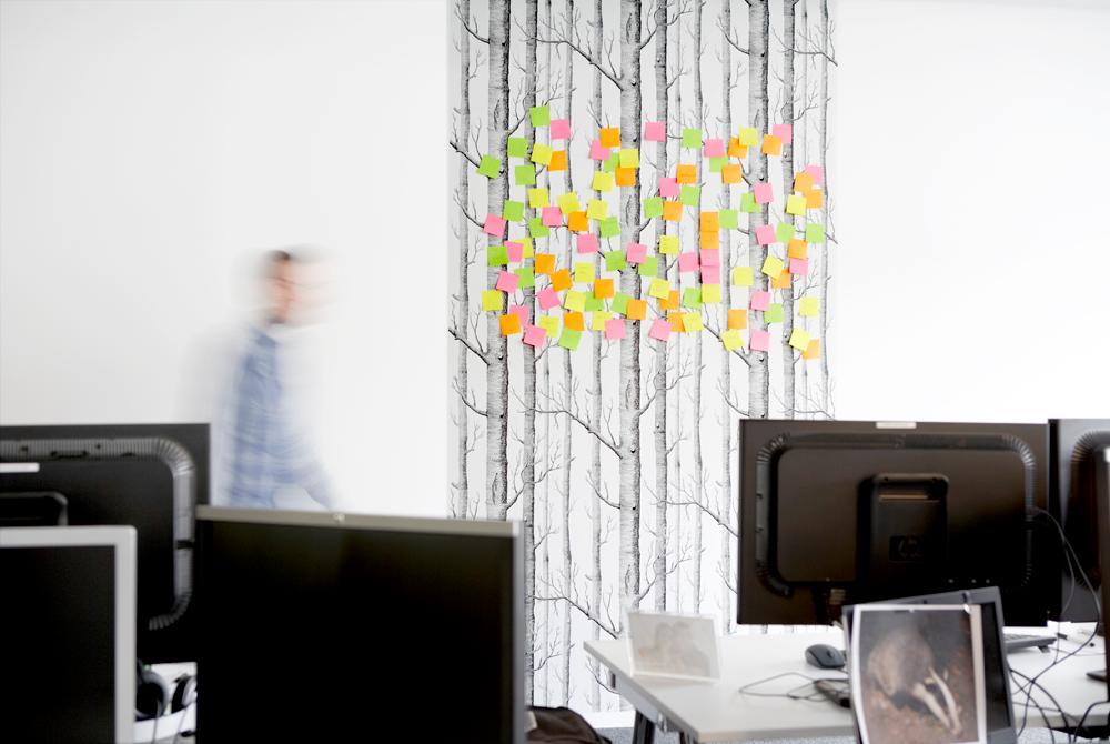 Wandgestaltung Büro kabelle bilder ideen couchstyle