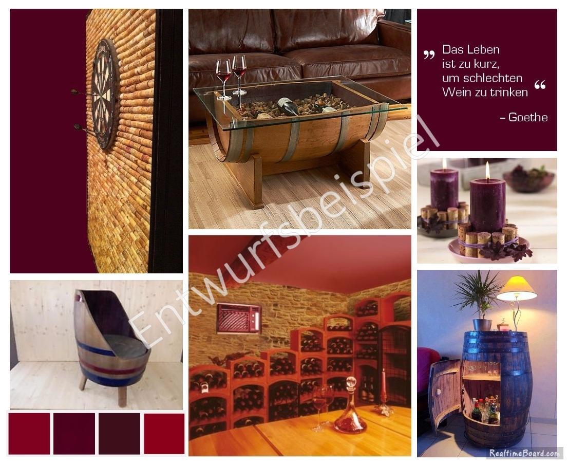 Business Styling Moodboard Für Gastronomie (Weinkeller) In Bordeaux Farben # Stuhl #