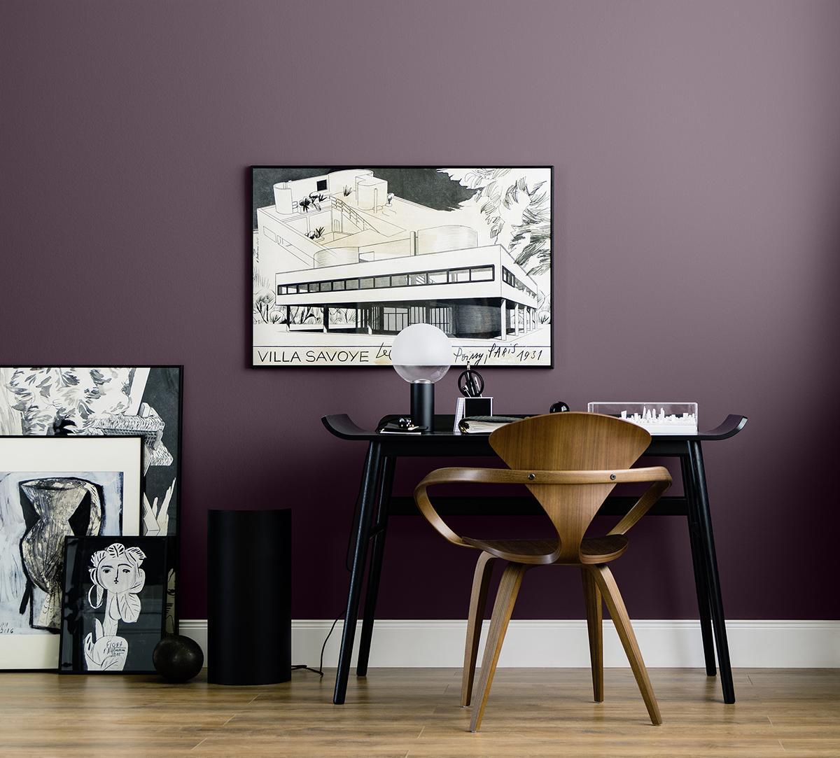 Arbeitszimmer Wandfarbe lila wandfarbe bilder ideen couchstyle